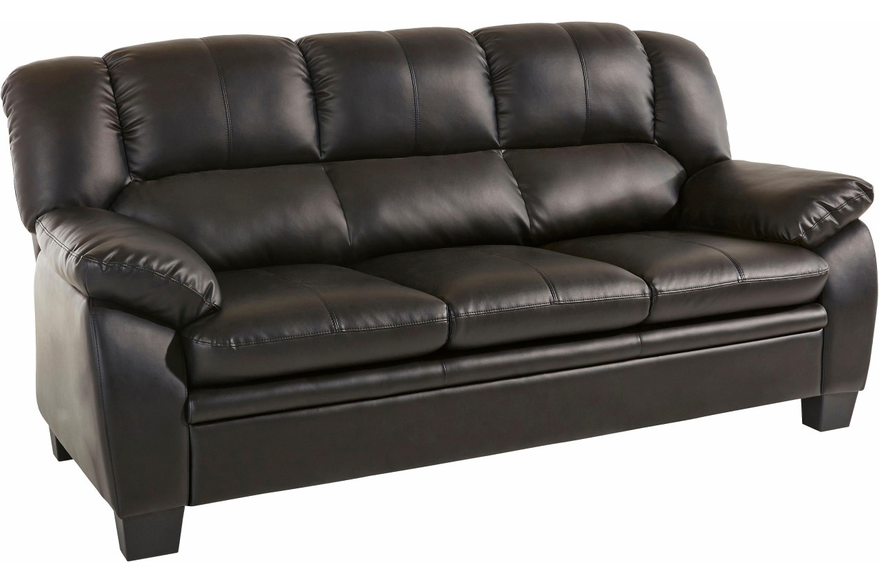 Atlantic Collection 3er-Sofa Royal - Schwarz