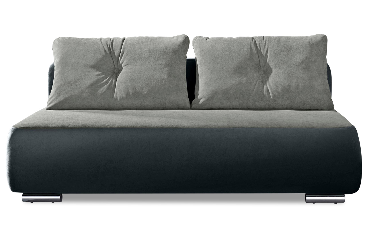 Collection AB 3er-Sofa Fun - mit Schlaffunktion - Anthrazit mit Federkern
