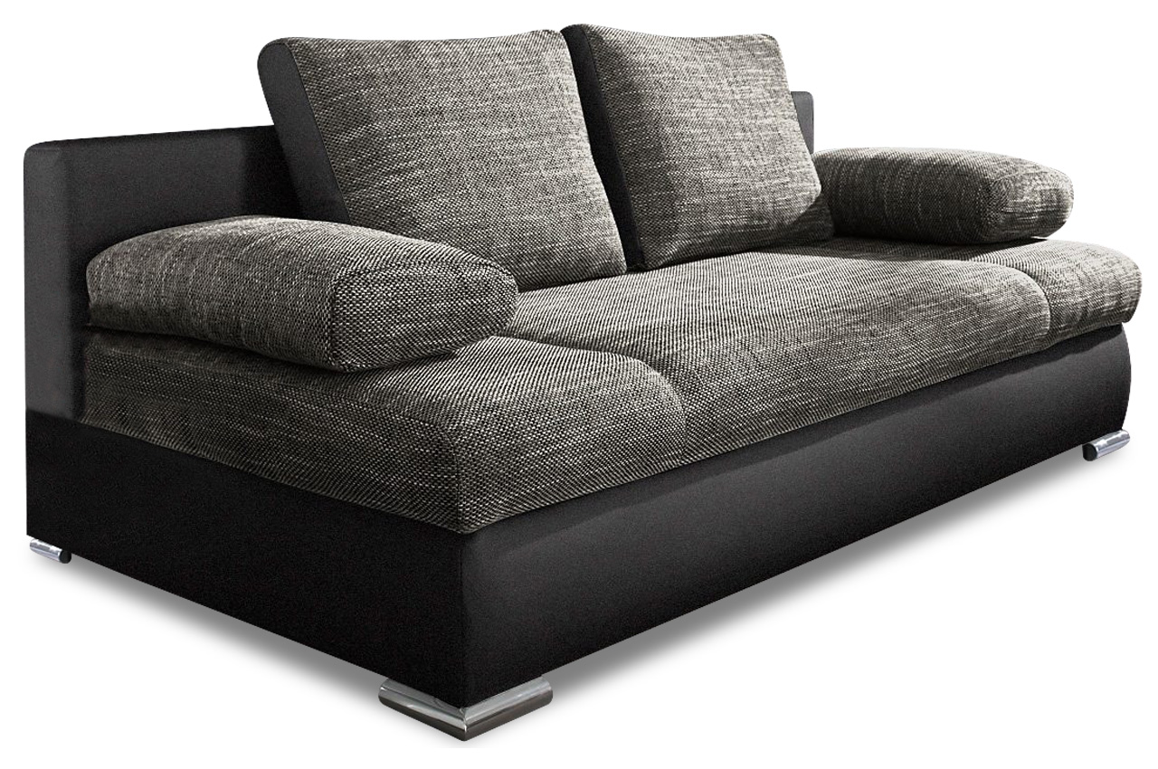 Collection AB 3er-Sofa Chiara New - mit Schlaffunktion - Anthrazit